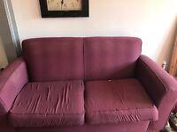 'HABITAT' purple sofa - good condition/ 5 years old - SO COMFY!