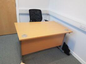 beech 1200 mm office desks