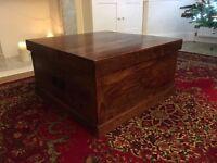 John Lewis Stowaway Maharani Sheesham Top Lift Chest Trunk Coffee Table