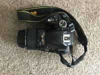 Used Nikon D3300 with 18-55mm and 55-200mm lenses