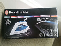 New Blue Russell Hobbs 18743 Scratch Resistant Ceramic Plate Steam Iron 2200w