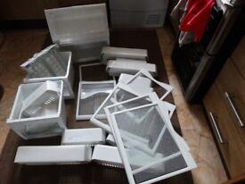 Samsung american fridge freezer shelves and draws bundle