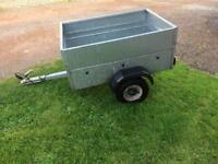 Galvanised caddy trailer
