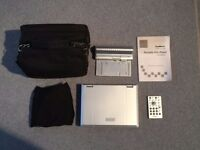 Goodmans GDVD67W3LCDK Portable DVD Player With Case, Remote, Ear Buds, In-Car Charger & Equipment