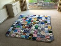 Handmade quilted patchwork bedspread