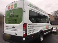 MINIBUS HIRE WITH DRIVER - 16 SEATERS - TRAVEL TO EUROPE TOO, FEMALE DRIVERS TOO - QUICK QUOTES!