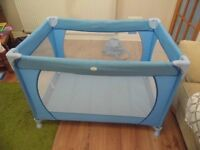 Blue RedKite Travel Cot For Sale