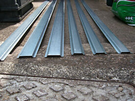 Galvanised Steel Cable Capping (Channeling) 26 Two Meter Lengths - Cash on Collection Onl