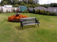 ORNATE GARDEN BENCHES......