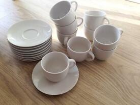 M&S Adante Cups and Saucers x9