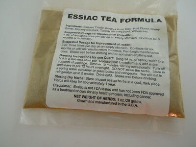 BEST ORGANIC ESSIAC 8 HERB FORMULA TEA  HIGHEST QUALTIY!