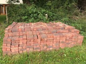 Red clay paver bricks