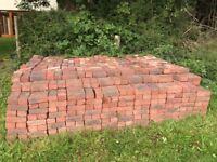Red clay paver bricks