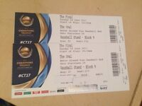2 GOLD ICC CHAMPIOS TROPHY 2017 FINAL TICKETS