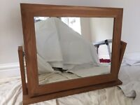 Dressing table solid oak mirror