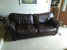 3-seater leather sofa in good condition.