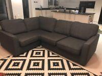Pristine Grey DFS Corner Sofa for Sale