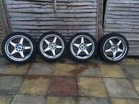 "18"" x 7.5 Alloys with Hankook Tyres 4x114.3 and 4x100 ET 45 with Alloygators Fitted"