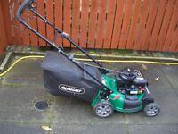 Qualcast self propelled 45cm cut rotary petrol lawnmower.