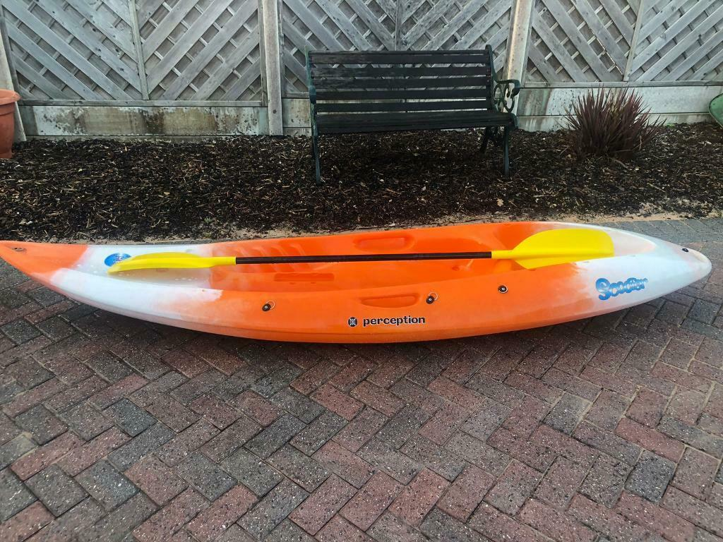Perception Kayak with paddle and seat | in Poole, Dorset | Gumtree