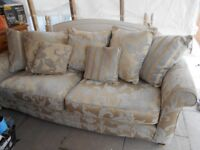 gold sofa removable covers very good condition
