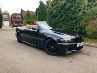 BMW 325 M SPORT CONVERTIBLE FACELIFT - AUTO - FULL CREAM LEATHERS - SAT NAV