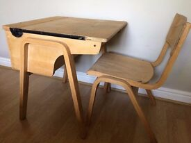 Vintage, solid child wooden desk and chair. Used and loved but outgrown.