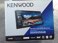 Kenwood DDX5025DAB Double Din with DAB radio DVD and Bluetooth built in