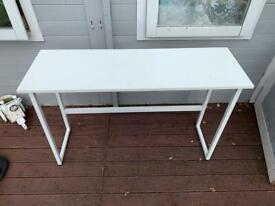 White narrow table
