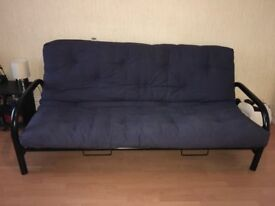 Futon Sofa Bed metal framed. Easily assembled. £35.00 **** Buyer collects****