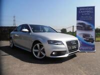 AUDI A4 S-LINE 2.0 TDI 143BHP AUTOMATIC PADDLE SHIFT (silver) 2011