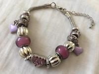 Ladies new purple charm bracelet