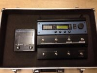 T C Helicon Voicelive Vocal effects processor with hard case and with TC Helicon Harmony