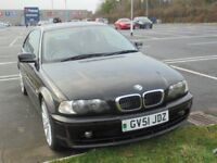 BMW 318 CI SE 1995cc 2 DOOR COUPE 2001-51, BLACK, ONLY 106K FROM NEW WITH PART SERVICE HISTORY
