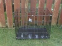 DOG CAGE MEDIUM WITH TRAY £25 NEW NEVER USED
