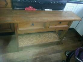 Wooden side table with draws needs tlc
