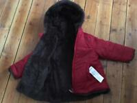 Baby coat in red size 12-18 months ( 81 cm ).