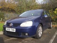VW GOLF 5/2.0 GT TDI 6 SPEED/5 DOOR 2005/M.O.T. august2018/TAXnovember 2018