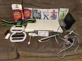 Nintendo Wii fitness and dance set