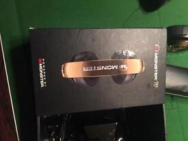 Monster 24k gold head phones