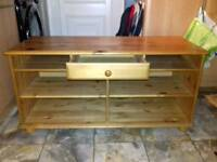 Ikea Pine Storage Unit with Shelves & small drawer