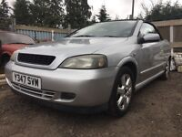 Vauxhall Astra silver bertone - breaking for parts / spares