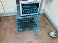 Small blue dog cage brand new