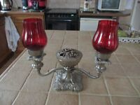 silver plated tealight candle holder