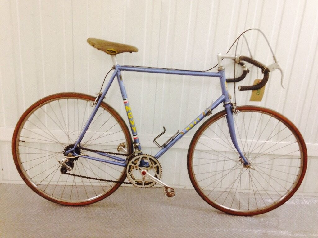 Italian Novy Rare Steel Road Bike 10 Seed Original Features 60 Cm Frame