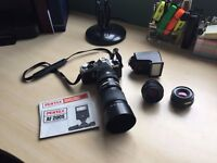 Pentax ME Super SLR camera with accessories