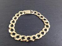 9ct curb bracelet 38g of solid gold