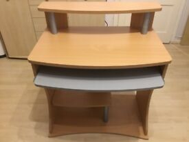 Beech coloured desk