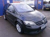 2005 VW GOLF PLUS 1.9 TD, DIESEL, 5DOOR,BLACK, NEW TIMING BELT, DRIVES LIKE NEW,FULL SERVICE HISTORY