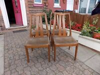 ATTRACTIVE SET OF 4 VINTAGE/RETRO 'NATHAN' TEAK DINING CHAIRS
